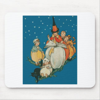 Vintage Halloween Witch Mouse Pad