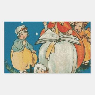 Vintage Halloween Witch Rectangular Sticker