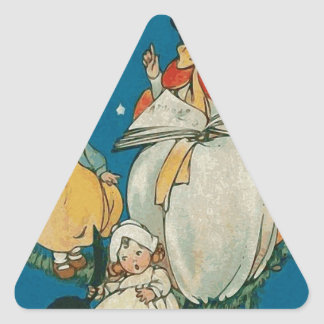 Vintage Halloween Witch Triangle Sticker