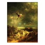 Vintage - Halloween, Witches Ride - Spitzweg Postcard