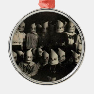Vintage halloween's costumes photo in Ireland Silver-Colored Round Decoration