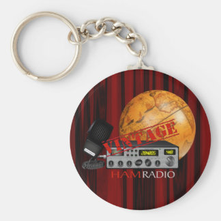 Vintage Ham (radio) Basic Round Button Key Ring