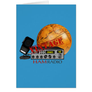 Vintage Ham (radio) Greeting Card