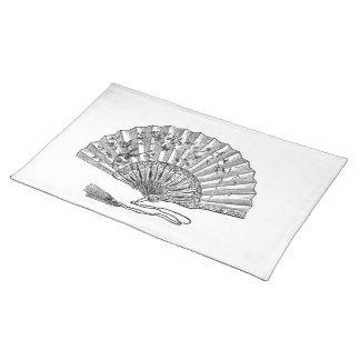 Vintage Hand Fan Placemat