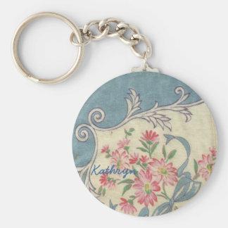 Vintage Handkerchief Keychain