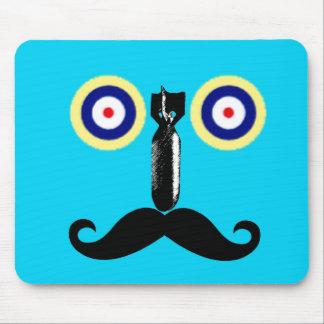Vintage Handlebar Moustache Mouse Pad