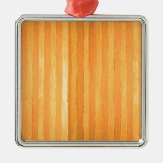Vintage Handmade Golden Stripes - color match Ornament