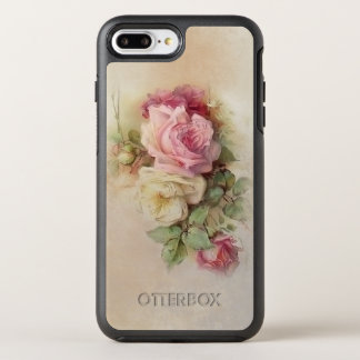 Vintage Handpainted Style Roses OtterBox Symmetry iPhone 8 Plus/7 Plus Case