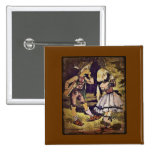 Vintage Hansel and Gretel See the Cottage 15 Cm Square Badge