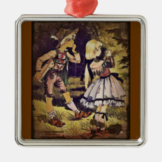 Vintage Hansel and Gretel See the Cottage Christmas Ornament