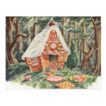 Vintage Hansel and Gretel; Witch's House of Candy Postcards
