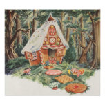 Vintage Hansel and Gretel; Witch's House of Candy Posters