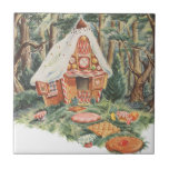 Vintage Hansel and Gretel; Witch's House of Candy Tile