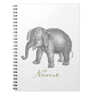 Vintage Happy Baby Elephant Note Books
