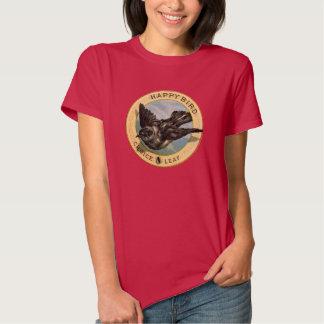 Vintage Happy Bird Choice Leaf Advertisement Shirt