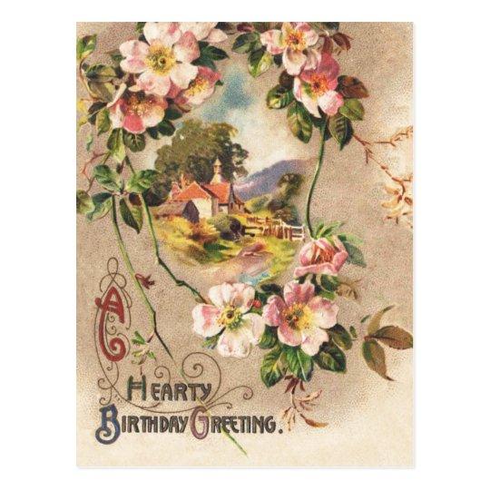 Vintage Happy Birthday Card Greeting Zazzle