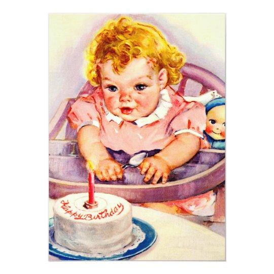 Vintage Happy Birthday Invitations