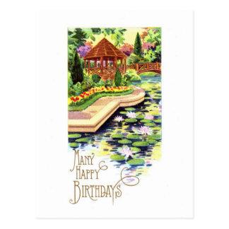 Vintage Happy Birthday Postcard