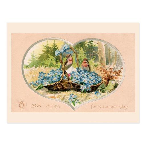 vintage Happy Birthday Postcards