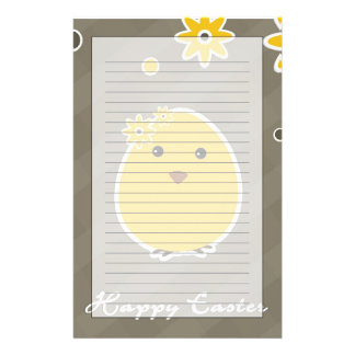 Vintage Happy Easter background Stationery