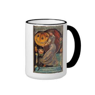 Vintage Happy Halloween JackOLantern Mug