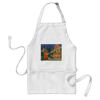 Vintage Happy Halloween Play Time Standard Apron