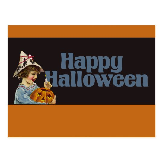 Vintage Happy Halloween Postcard
