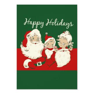 Vintage Happy Holidays 13 Cm X 18 Cm Invitation Card