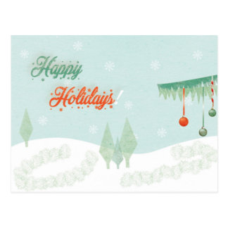 "Vintage ""Happy Holidays!"" landscape Postcard"