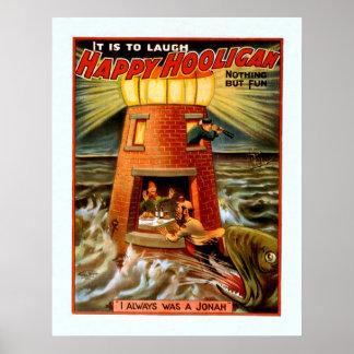 Vintage Happy Hooligan Poster