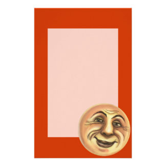 Vintage Happy Smiling Moon Stationery Paper