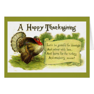 Vintage Happy Thanksgiving Card