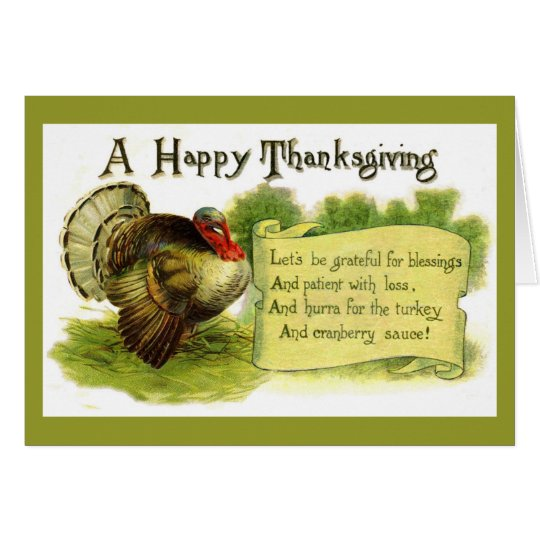 Vintage Happy Thanksgiving Card