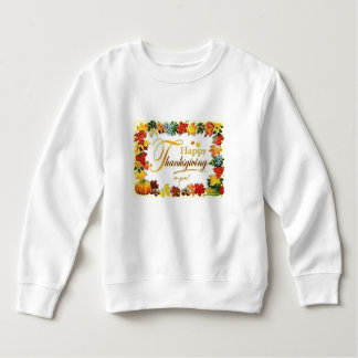 Vintage Happy Thanksgiving Colourful Leaves Sweatshirt