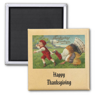 Vintage Happy Thanksgiving Magnet