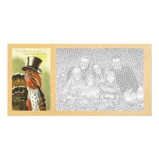 Vintage Happy Thanksgiving Photocard Photo Greeting Card