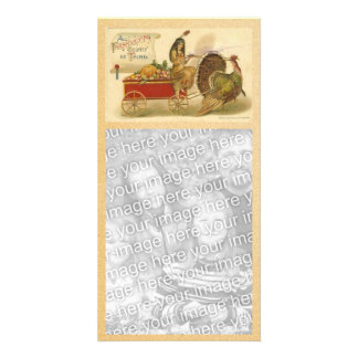 Vintage Happy Thanksgiving Photocard Photo Card Template