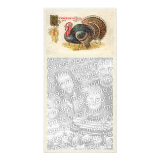 Vintage Happy Thanksgiving Photocard Customized Photo Card