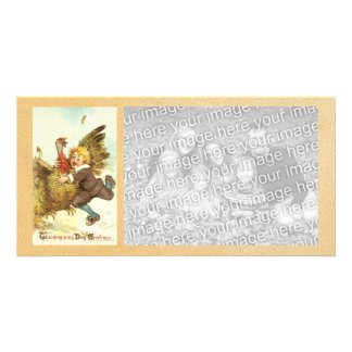 Vintage Happy Thanksgiving Photocard Photo Cards