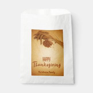 Vintage Happy Thanksgiving Wheat - Favor Bag