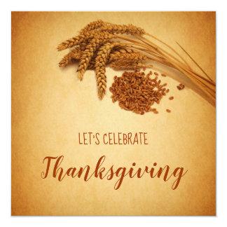 Vintage Happy Thanksgiving Wheat - Invitation