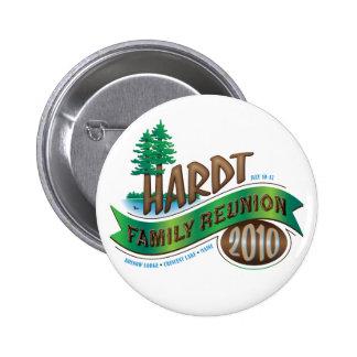 Vintage Hardt Family Reunion Button