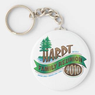 Vintage Hardt Family Reunion Basic Round Button Key Ring