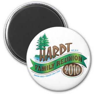 Vintage Hardt Family Reunion Refrigerator Magnet