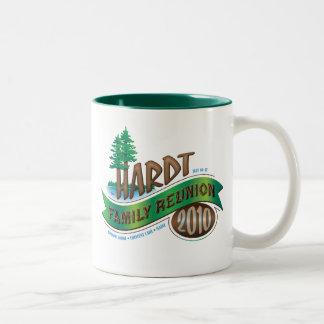 Vintage Hardt Family Reunion Two-Tone Coffee Mug