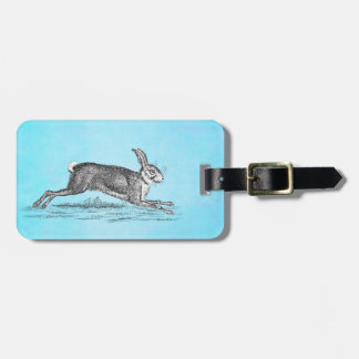 Vintage Hare Bunny Rabbit Illustration - Rabbits Luggage Tag
