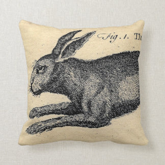 Vintage Hare Rabbit Pillow