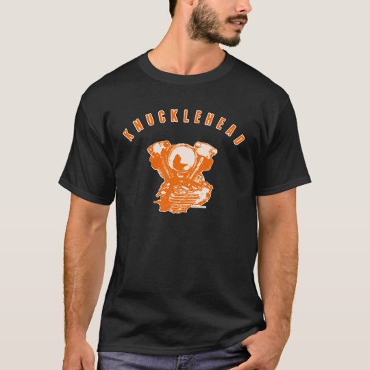 Vintage Harley Knucklehead Motorcycle Engine (Org) T-Shirt