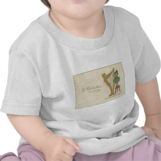 Vintage Harp Of Erin St Patrick's Day Card Shirts