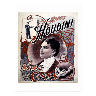Vintage Harry Houdini King of Cards Advertisement Postcard